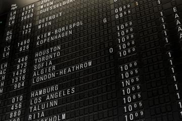 Split-flap Departure Board at Frankfurt Airport, Germany : Stock Photo or Stock Video Download rcfotostock photos, images and assets rcfotostock | RC-Photo-Stock.: