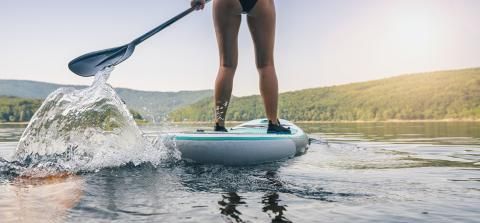 Sporty girl stand up paddle surfing - Stock Photo or Stock Video of rcfotostock | RC-Photo-Stock
