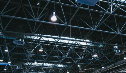 Spot Lights and ventilation system in a industrial building or exhibition Hall Ceiling construction- Stock Photo or Stock Video of rcfotostock | RC-Photo-Stock