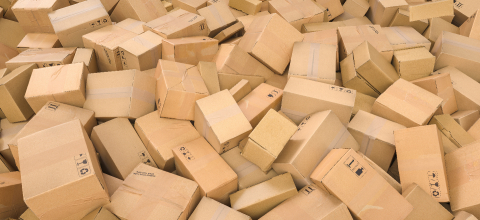 Stack of cardboard delivery boxes or parcels. shipping and logistics concept image- Stock Photo or Stock Video of rcfotostock | RC-Photo-Stock