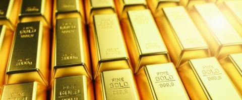 Stack of gold bars, Financial concept image, banner size- Stock Photo or Stock Video of rcfotostock | RC-Photo-Stock