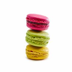 Stack of multicolored macaroon on a white background- Stock Photo or Stock Video of rcfotostock | RC-Photo-Stock