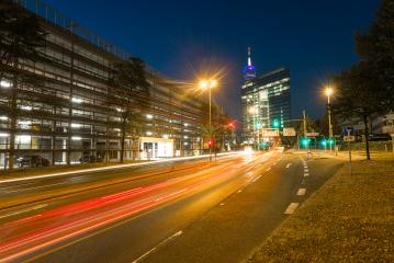 Stadttor into the city tunnel of Dusseldorf at night- Stock Photo or Stock Video of rcfotostock | RC-Photo-Stock