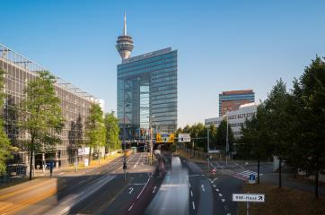 Stadttor into the city tunnel of Dusseldorf at rush hour- Stock Photo or Stock Video of rcfotostock | RC-Photo-Stock