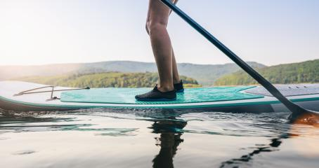 Standup paddler at the lake at summer- Stock Photo or Stock Video of rcfotostock | RC-Photo-Stock