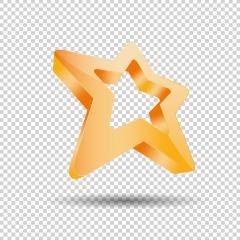 star 3D logo, Glossy orange 3D trophy star icon. Symbol of leadership or rating on checked transparent background. Vector illustration. Eps 10 vector file.- Stock Photo or Stock Video of rcfotostock | RC-Photo-Stock