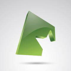 star logo silhouette in a green cube glossy 3D style trophy star icon. Symbol of leadership or rating. Vector illustration. Eps 10 vector file.- Stock Photo or Stock Video of rcfotostock | RC-Photo-Stock