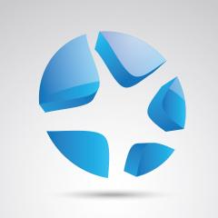 starfish 3d vector icon as logo formation in blue glossy colors, Corporate design. Vector illustration. Eps 10 vector file.- Stock Photo or Stock Video of rcfotostock | RC-Photo-Stock