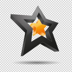 stars 3D logo, Glossy orange 3D trophy star icon. Symbol of leadership or rating on checked transparent background. Vector illustration. Eps 10 vector file.- Stock Photo or Stock Video of rcfotostock | RC-Photo-Stock