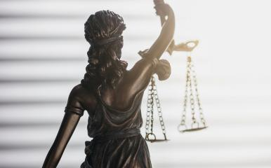 Statue of justice from behind (Justitia) : Stock Photo or Stock Video Download rcfotostock photos, images and assets rcfotostock | RC-Photo-Stock.: