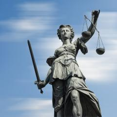 Statue of justice (Justitia) against blue sky : Stock Photo or Stock Video Download rcfotostock photos, images and assets rcfotostock | RC-Photo-Stock.: