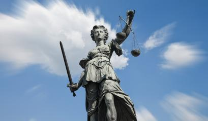 Statue of justice (Justitia) on blue sky : Stock Photo or Stock Video Download rcfotostock photos, images and assets rcfotostock | RC-Photo-Stock.: