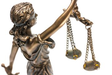Statue of Justice with scales in isolated on white, Legal law, advice and justice concept- Stock Photo or Stock Video of rcfotostock | RC-Photo-Stock