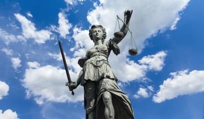 Statue of Justitia (justice goddess) on cloudy blue sky : Stock Photo or Stock Video Download rcfotostock photos, images and assets rcfotostock | RC-Photo-Stock.: