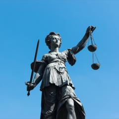 Statue of Lady Justice in front of the Romer in Frankfurt - Germany : Stock Photo or Stock Video Download rcfotostock photos, images and assets rcfotostock | RC-Photo-Stock.: