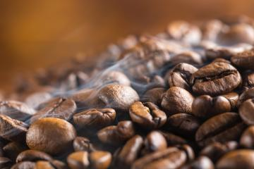 steaming coffee beans- Stock Photo or Stock Video of rcfotostock | RC-Photo-Stock