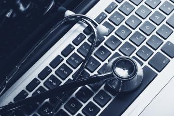 Stethoscope on laptop keyboard- Stock Photo or Stock Video of rcfotostock | RC-Photo-Stock