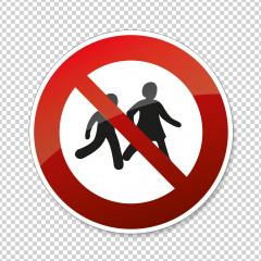 STOP! Not for children sign. Children a not allowed in this area, prohibition sign on checked transparent background. Vector Eps 10. : Stock Photo or Stock Video Download rcfotostock photos, images and assets rcfotostock | RC-Photo-Stock.:
