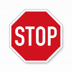 Stop sign. German traffic sign stop on white background. Vector illustration. Eps 10 vector file.- Stock Photo or Stock Video of rcfotostock | RC-Photo-Stock