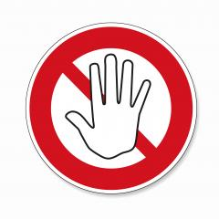 STOP! Simple red stop roadsign with big hand symbol or icon. Safety signs, warning Sign or Danger symbol stop hand sign for prohibited activities on white background. Vector illustration. Eps 10. : Stock Photo or Stock Video Download rcfotostock photos, images and assets rcfotostock | RC-Photo-Stock.:
