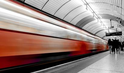 subway train in motion arriving at a London underground train station- Stock Photo or Stock Video of rcfotostock | RC-Photo-Stock