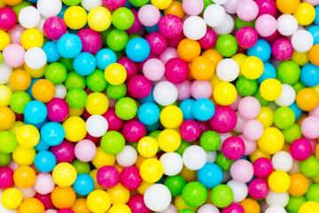 Sugar Love pearls cake decoration in colorful sweet- Stock Photo or Stock Video of rcfotostock | RC-Photo-Stock