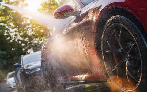 Summer Car Washing. Cleaning Car Using High Pressure Water. - Stock Photo or Stock Video of rcfotostock | RC-Photo-Stock