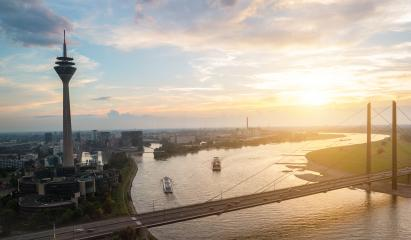 summer sunset at dusseldorf in germany- Stock Photo or Stock Video of rcfotostock | RC-Photo-Stock