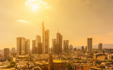 Summer view of the skyline of Frankfurt, Germany- Stock Photo or Stock Video of rcfotostock   RC-Photo-Stock