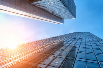 sun shines through office buildings : Stock Photo or Stock Video Download rcfotostock photos, images and assets rcfotostock | RC-Photo-Stock.: