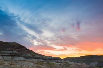 sunrise at Drumheller Badlands valley in alberta canada- Stock Photo or Stock Video of rcfotostock | RC-Photo-Stock