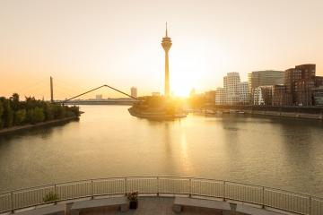 sunrise at Dusseldorf media harbor- Stock Photo or Stock Video of rcfotostock | RC-Photo-Stock