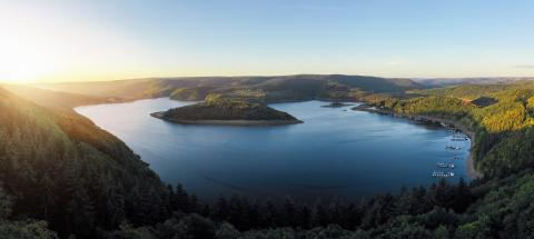 Sunrise at the Lake Rursee, Eifel Germany- Stock Photo or Stock Video of rcfotostock | RC-Photo-Stock