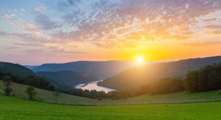 sunrise at the rurlake in the eifel- Stock Photo or Stock Video of rcfotostock | RC-Photo-Stock
