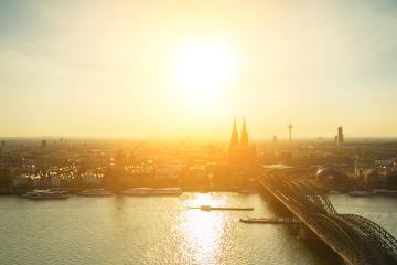 sunset at cologne city- Stock Photo or Stock Video of rcfotostock   RC-Photo-Stock