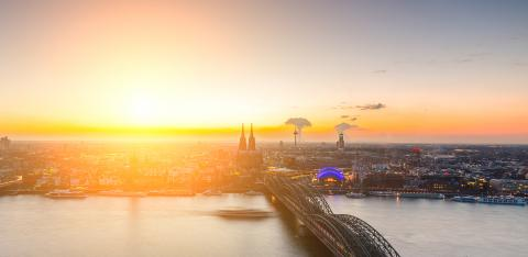 Sunset at cologne city : Stock Photo or Stock Video Download rcfotostock photos, images and assets rcfotostock | RC-Photo-Stock.: