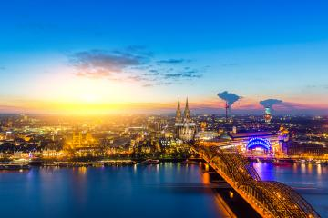 Sunset at cologne with cathedral : Stock Photo or Stock Video Download rcfotostock photos, images and assets rcfotostock | RC-Photo-Stock.: