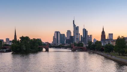 Sunset at Frankfurt am Main, germany- Stock Photo or Stock Video of rcfotostock | RC-Photo-Stock