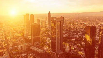 Sunset at Frankfurt City (Mainhattan), germany- Stock Photo or Stock Video of rcfotostock | RC-Photo-Stock