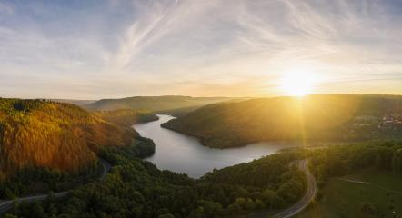 Sunset at the Lake Rursee, Eifel Germany- Stock Photo or Stock Video of rcfotostock | RC-Photo-Stock