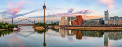 sunset dusseldorf media harbour : Stock Photo or Stock Video Download rcfotostock photos, images and assets rcfotostock | RC-Photo-Stock.: