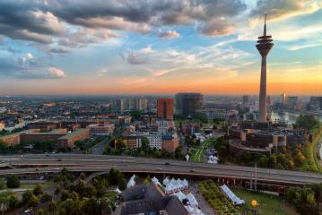 sunset in dusseldorf : Stock Photo or Stock Video Download rcfotostock photos, images and assets rcfotostock | RC-Photo-Stock.: