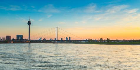 sunset of Rhein river at Dusseldorf : Stock Photo or Stock Video Download rcfotostock photos, images and assets rcfotostock | RC-Photo-Stock.: