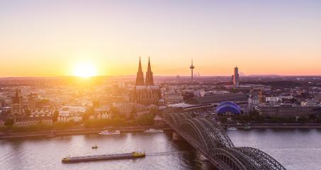 sunset over cologne city- Stock Photo or Stock Video of rcfotostock | RC-Photo-Stock