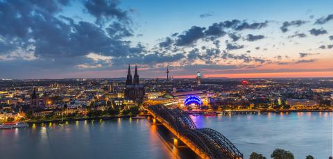 Sunset over cologne in germany- Stock Photo or Stock Video of rcfotostock   RC-Photo-Stock