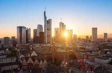 Sunset over Frankfurt skyline- Stock Photo or Stock Video of rcfotostock | RC-Photo-Stock