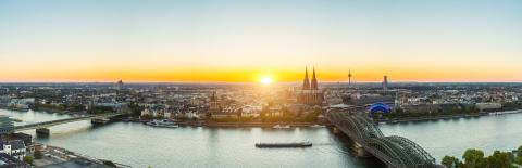 sunset panorama of cologne- Stock Photo or Stock Video of rcfotostock | RC-Photo-Stock