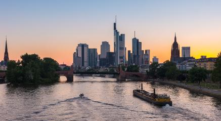 Sunset silhouette of Frankfurt am Main, germany- Stock Photo or Stock Video of rcfotostock | RC-Photo-Stock