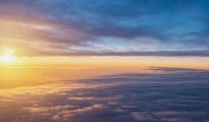 Sunset sky over the clouds background- Stock Photo or Stock Video of rcfotostock | RC-Photo-Stock
