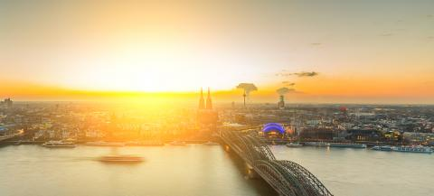 Sunset skyline in cologne - Stock Photo or Stock Video of rcfotostock | RC-Photo-Stock